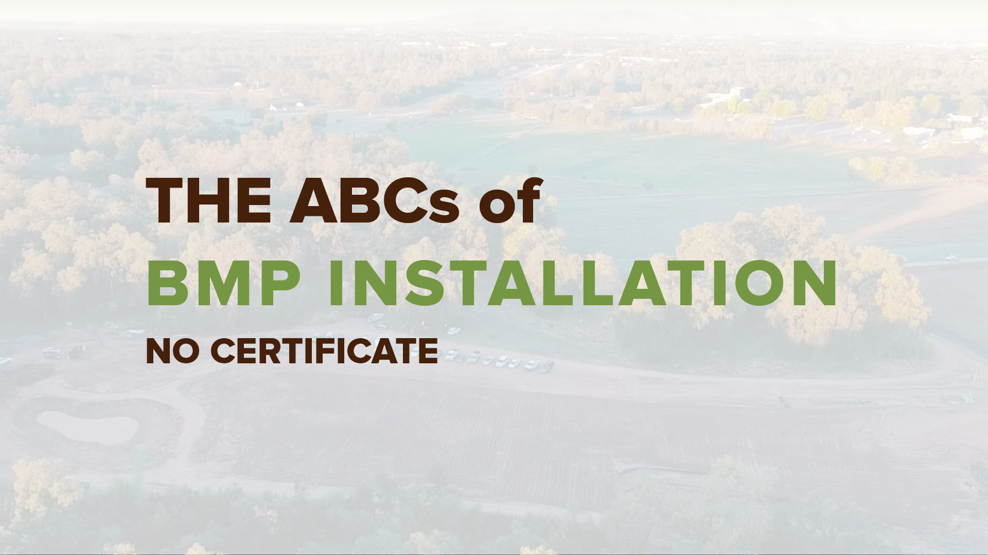 ABC's BMP Installation No Cert. 01